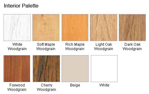 wood grain colours option