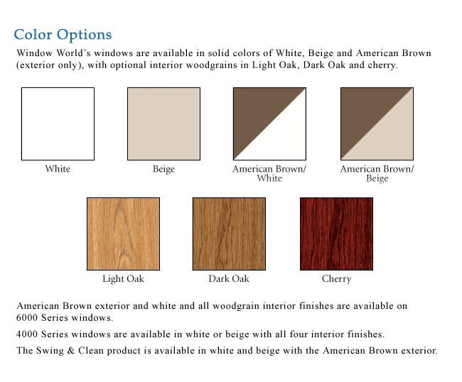 Replacement Window Color Options