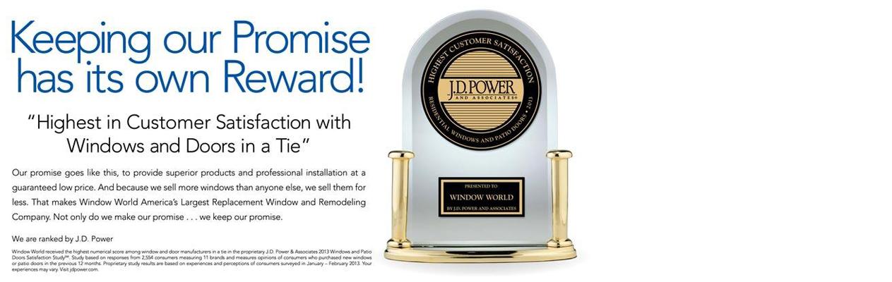 Highest Replacement Window Customer Satisfaction Award