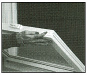 Double hung windows cleaning step 1