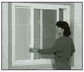 Remove the interior sash  from slider window step 1