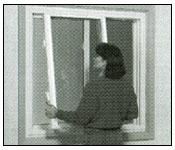 Remove the interior sash  from slider window step 2