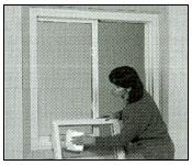 Remove the interior sash  from slider window step 3