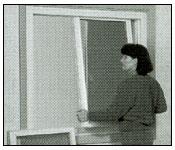 Remove the interior sash  from slider window step 4