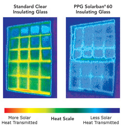 Low-E-Glass Heat Scale